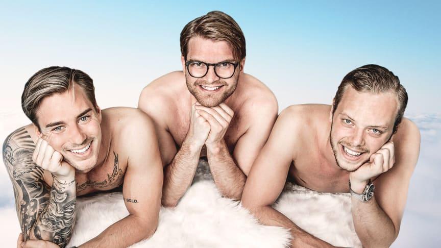 Jonas Fagerström, Lucas Simonsson och Carl Déman.