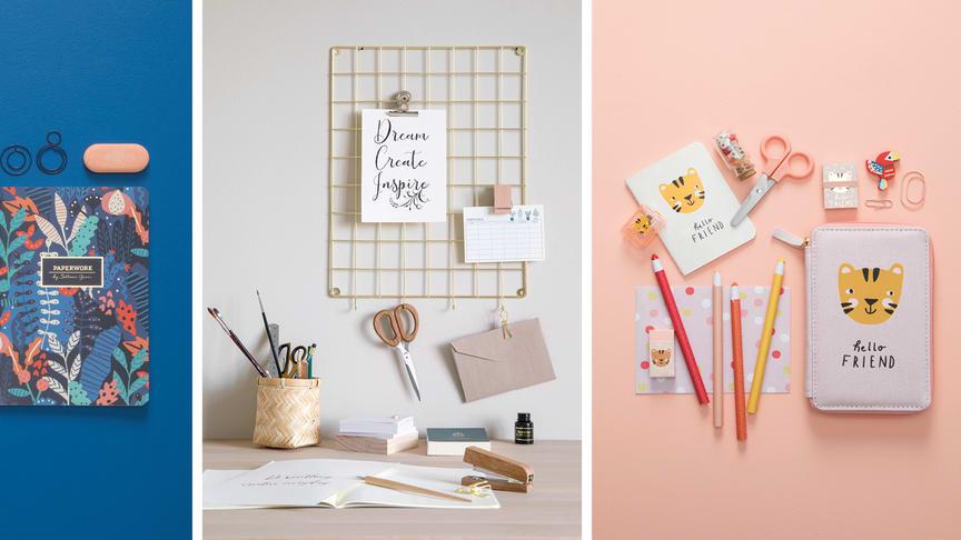 Det nye udvalg af produkter til kontoret og skoletasken lanceres i alle Søstrene Grene-butikker og på webshoppen torsdag den 23. juli 2020.