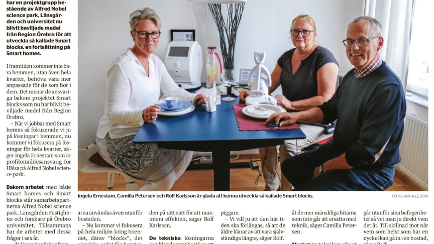 Artikel ur Örebroar'n 27 juni.