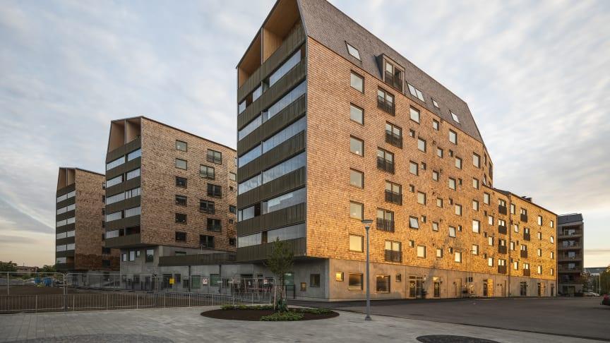 Trummens strand - nominerat till både Träbyggnadspriset och Byggnadspriset i Växjö