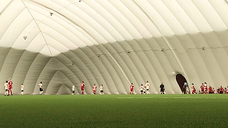 Hoppfullt för fotbollshallen      Foto: Piteå kommun