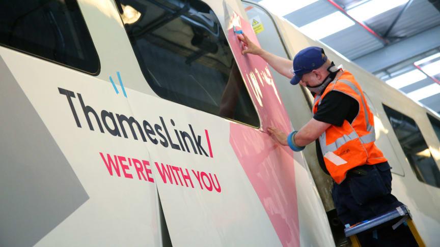 Thameslink train wrap