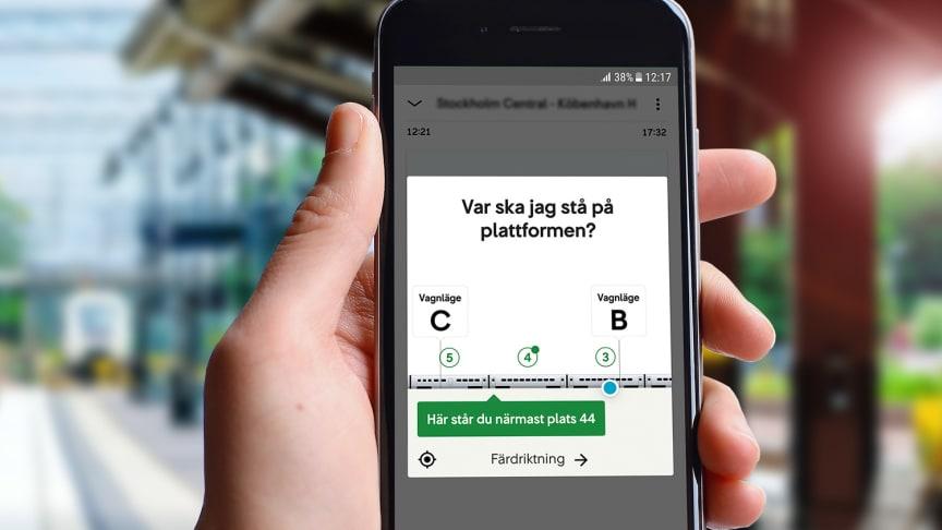 I augusti lanserades den senaste funktionen i SJs prisbelönta mobilapp.