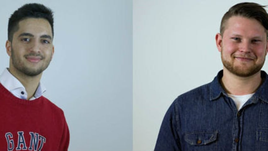 Internetkändisarna Filip Dikmen och Emil Andersson.
