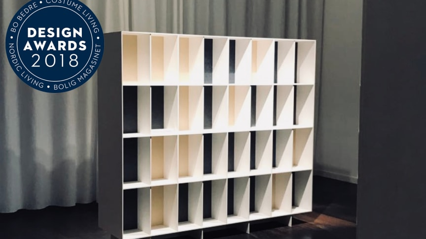 ​The Shelving system Bibliothèque, designed by Claesson Koivisto Rune for Kvadrat and Really, produced by ASPLUND, are rewarded with award for Best Design at the Danish Design Awards 2018.