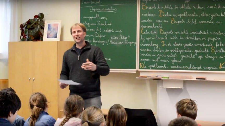 Film Tea(cher) Talk: Screenshot mit Sigurd Borghs von der Michael-Schule (Belgien) (Foto: Waldorf Resources)