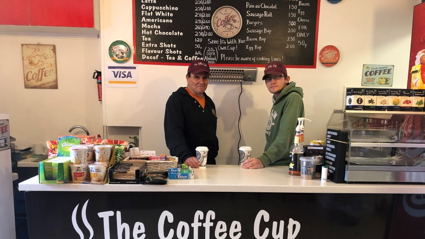 Open for business: The Coffee Cup at Pulborough station