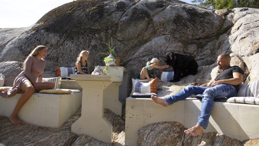 Björn bygger bo – Gjuta möbler i betong
