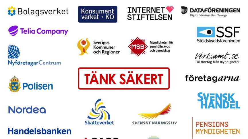 Logotyper för de myndigheter, organisationer och företag som deltar.
