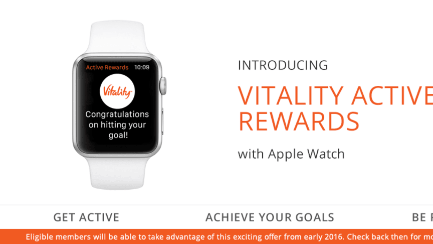 Discovery Announces Collaboration with Apple to Launch Vitality Active Rewards with Apple Watch