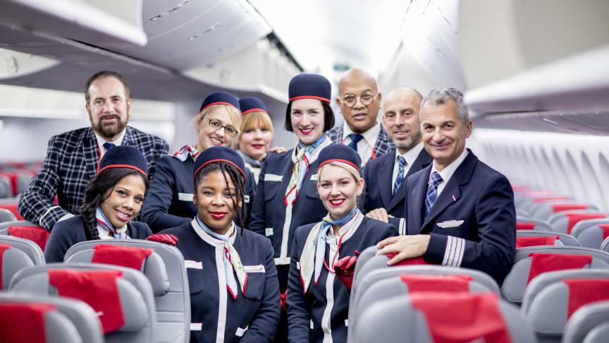 Norwegians langdistansebesetning i en 787 Dreamliner. Foto: Bo Mathisen