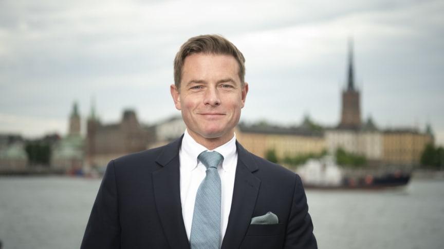 Joakim Larsson (M), stadsbyggnadsborgarråd i Stockholms stad