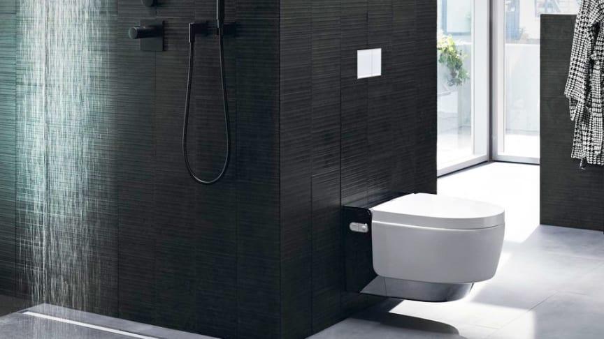 Geberit CleanLine badeværelsesafløb & Geberit AquaClean douchetoilet