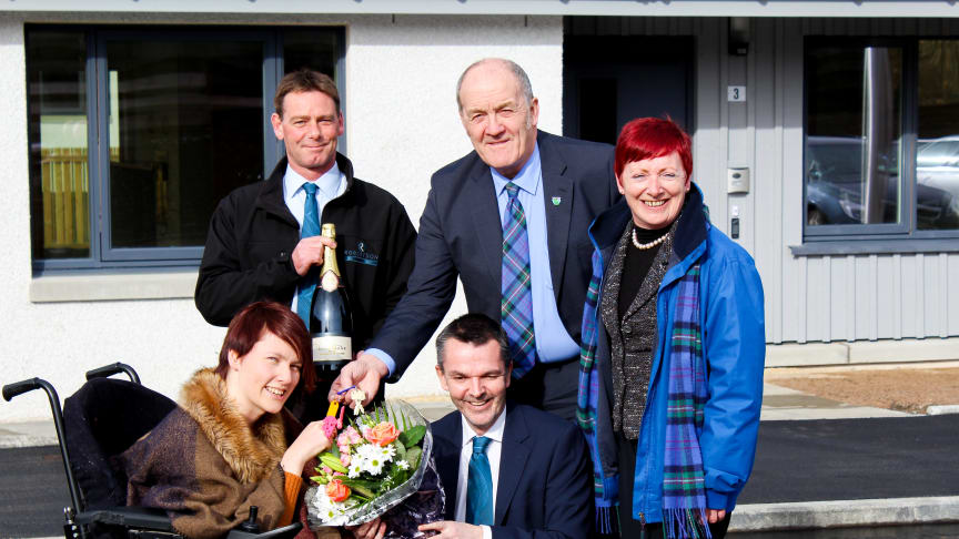 Local tenants move into the first new council homes in Speyside for a generation