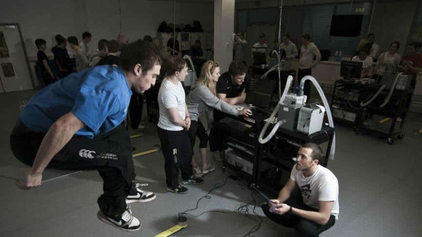 TV crew explore Northumbria's state-of-the-art facilities