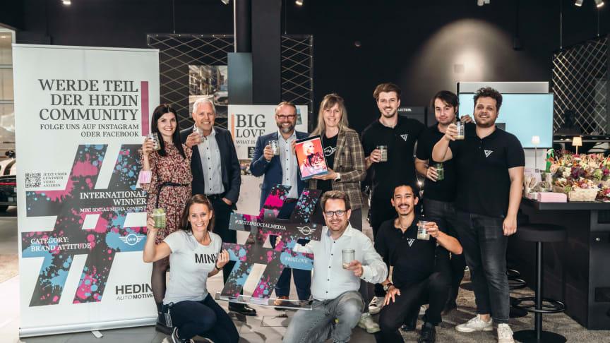 Hedin Automotive Schweiz gewinnt den internationalen MINI Social Media Contest 2021