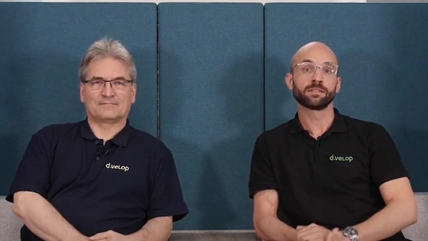 Michael Bußmann (l.) und Philipp Perplies, Geschäftsführer der d.velop public sector GmbH. Foto: d.velop.