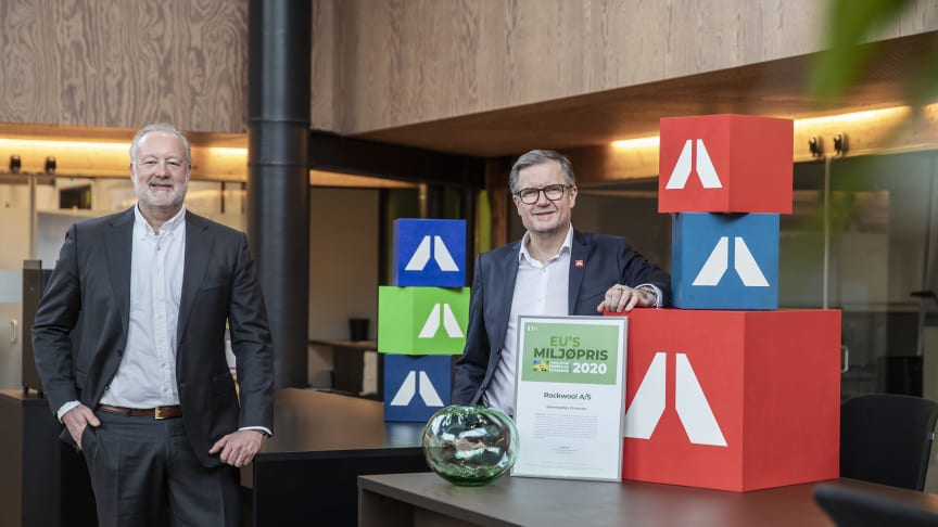 ROCKWOOL vinder EU's miljøpris 2020 for bæredygtige processer - uddelt 1. marts 2021