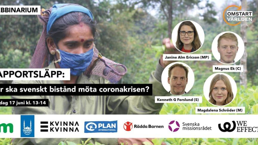 Rapportlansering: Hur ska svenskt bistånd möta coronakrisen?
