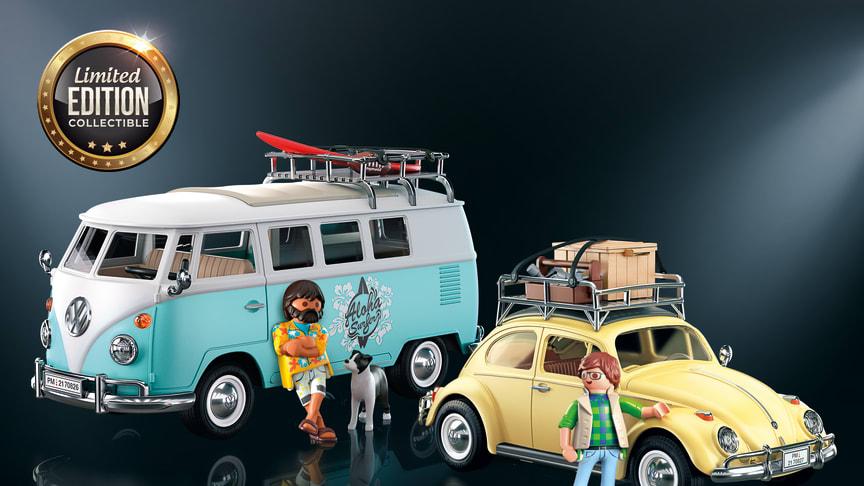 """Populäre Klassiker: Volkswagen """"Bulli"""" und Käfer erscheinen in limitierter Special Edition von PLAYMOBIL"""