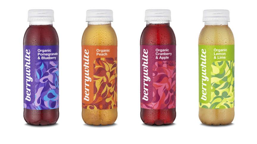 Berrywhites ekologiska fruktdrycker med vitt te, i fyra olika smaker.