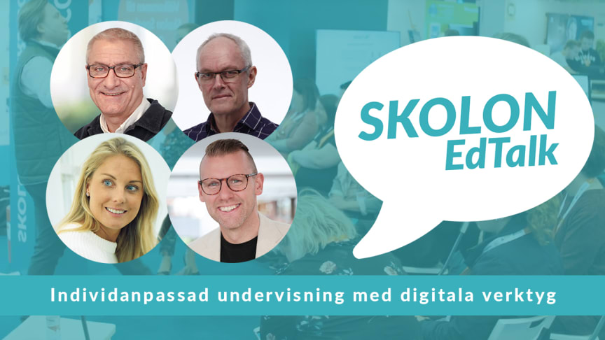 I Skolon EdTalks webinar kommer vi att lyfta hur vi med hjälp av digitala verktyg får möjlighet att erbjuda en likvärdig och individanpassad undervisning, där vi fokuserar på området stöd för att läsa och skriva, samt språkutveckling.