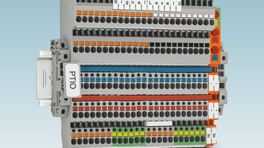 Givar-, ställdonsplintar PTIO 1,5/S/5 med dubbel signalgenomgång