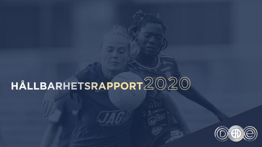 Elitfotboll Dam går fortsatt i frontlinjen för utvecklingen av damelitfotboll - lanserar hållbarhetsrapport 2020
