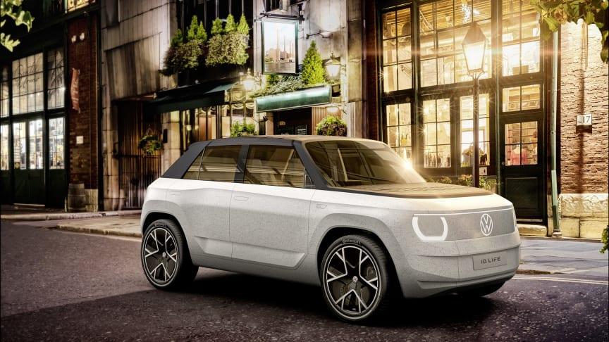 ID.LIFE-konceptbilen er en giver en forsmag på en ny ID.-model i minibilssegmentet, der forventes introduceret i 2025