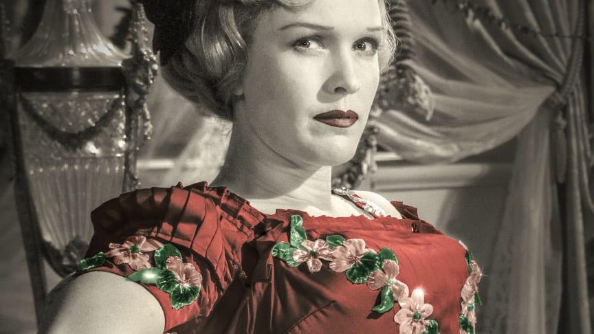 Eva Dahlbeck i  filmen Sommarnattens leende, 1955 av Ingmar Bergman.