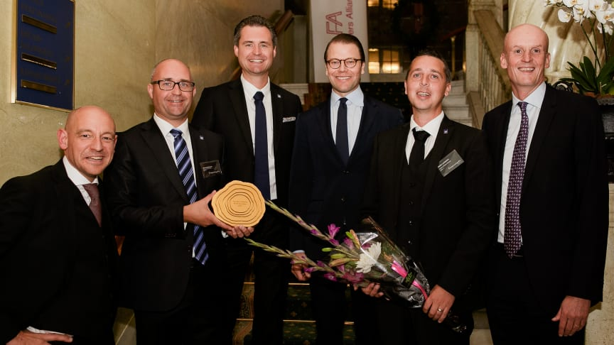 Sjötransportföretaget Northern Offshore Services vann igår utmärkelsen Årets Grundare Sverige 2015 som delades ut av H.K.H Prins Daniel