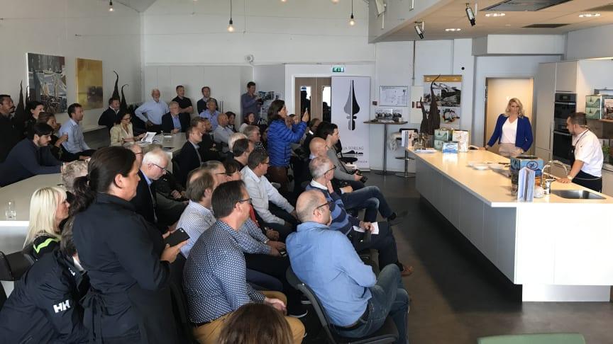 Mange ønsket å delta på lanseringen av Klippfiskboka. Foto: Norges sjømatråd
