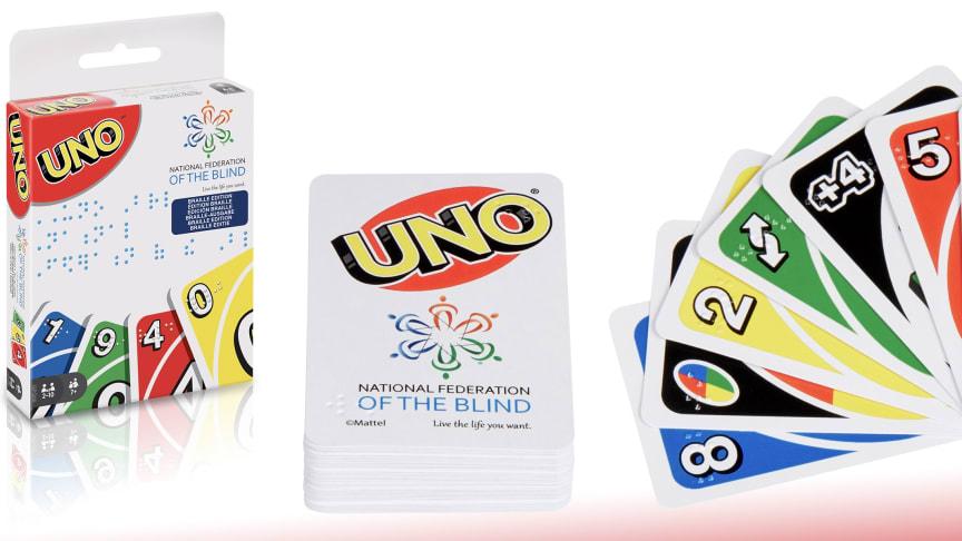 Mattel lanciert UNO-Kartendeck mit Blindenschrift Braille