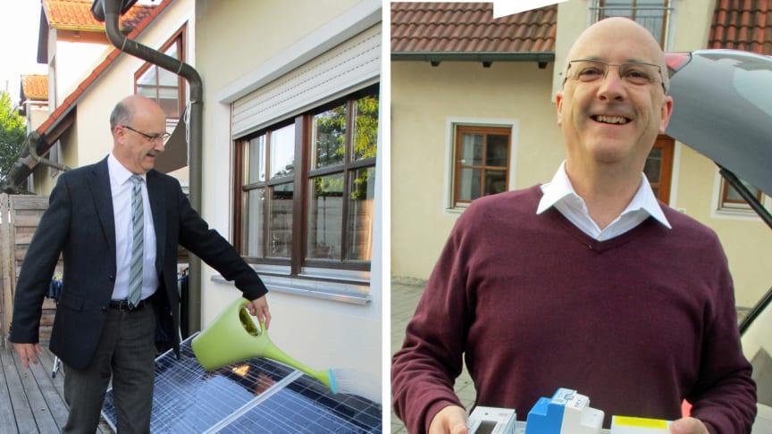 Stromverbrauch und eigene PV-Erzeugung immer im Blick: VBEW-Chef Detlef Fischer mit dem neuen intelligenten Messsystem.