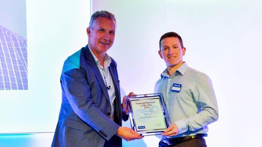 Allianz Chief Executive Jon Dye and Engineer Surveyor Mike Ford
