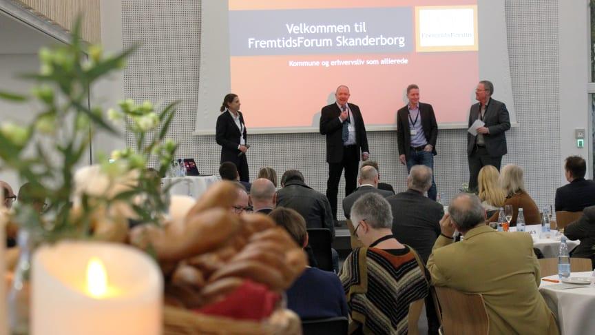 """Netværket """"FremtidsForum Skanderborg"""" diskuterede i """"Fælleden"""", hvordan kommunen kan blive en endnu bedre erhvervskommune. Foto: Jannik Preisler"""