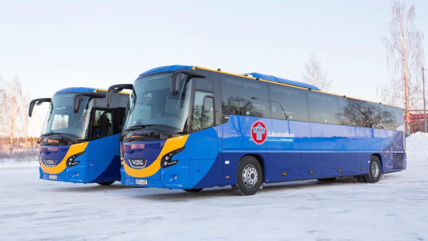 15 nya fossilfria regionbussar i Västerbotten - 88% lägre växthusgasutsläpp