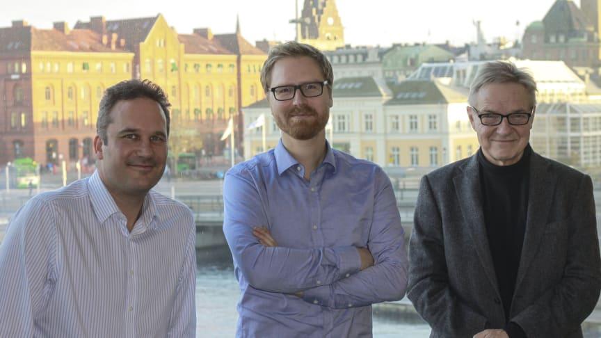 Forskarna bakom studien i Socialt arbete vid Malmö universitet. Från vänster: Björn Johnson, Torkel Richert och Bengt Svensson
