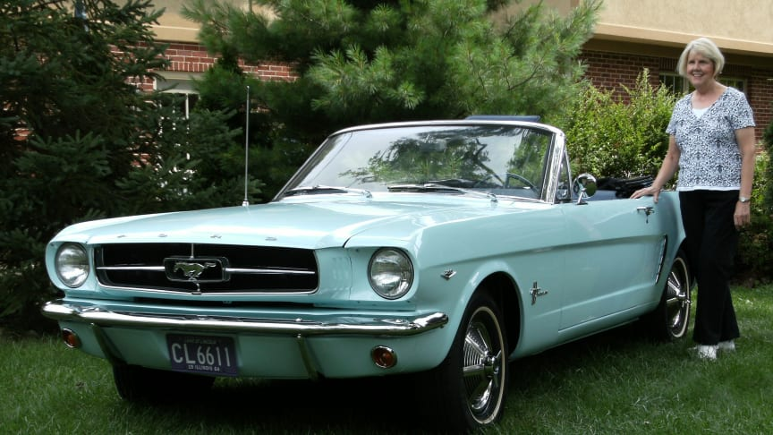 Verdens første ejer af en Ford Mustang er en kvinde
