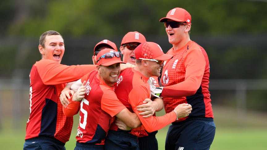 Captain Chris Edwards (left) celebrates with teammates (Getty Sport)