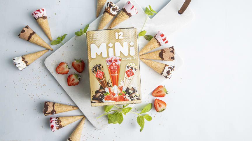Hils på Krone-is i miniatyr fra Hennig-Olsen Is!