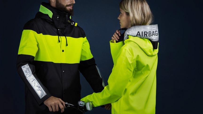 Hövding och Stutterheim samarbetar för säkrare cykling på mörka vägar