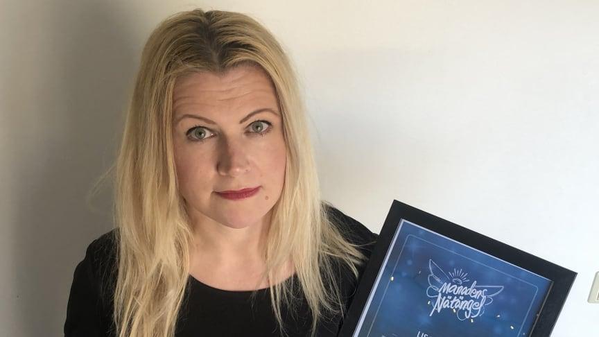 Forskaren Lisa Kaati är Månadens Nätängel mars