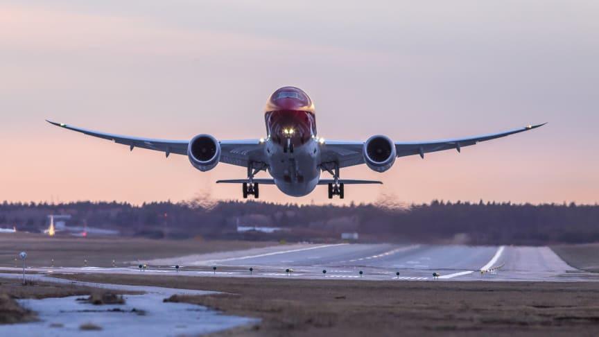 Norwegian med 25 procent i passagerartillväxt under mars