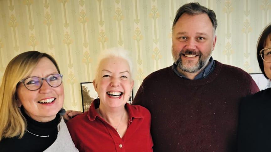 Anna Mellergård, Lena Sundgren-Brorsson, Peter Nygren och Camilla Carnmo är litteraturutvecklare och driver projektet Skrivyta Syd.