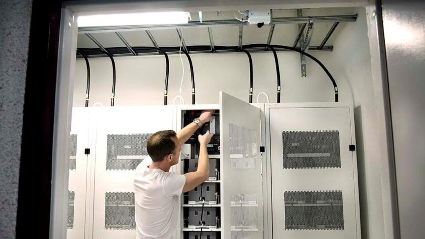 Primrocks energilager för leverans av balans- och kapacitetstjänster i Stockholm. Fotograf: Kristina Sahlén