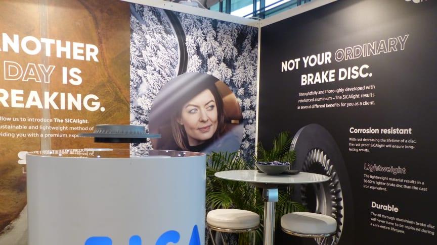 SiCA Light presenteras på EuroBrake-mässan i Dresden.