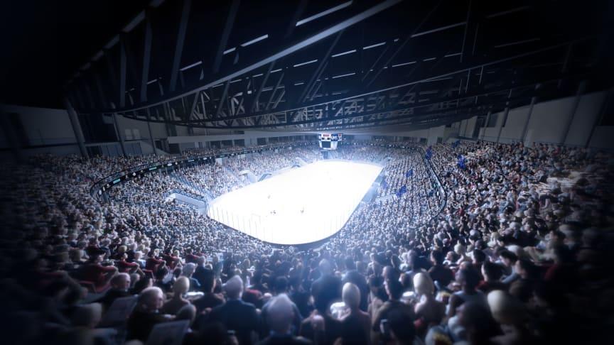 KLIMAVENNLIG: Nye Jordal Amfi skal gi både spillere og tilskuere et optimalt inneklima med minst mulig klimabelastning. (Foto:Hille Melbye Arkitekter/ Kultur- og idrettsbygg Oslo KF)