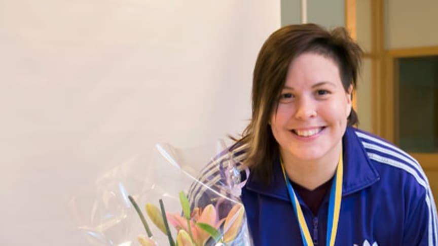 SM-guldsvinnare hyllas på Widénska gymnasiet