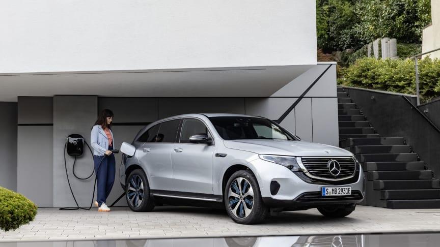 Helelektriska suven Mercedes-Benz EQC 400 visas på eCarExpo.